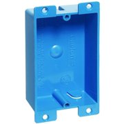 Thomas & Betts B108R-UPC Outlet Box, 1 Gang, 8 cu-in, 3-5/8 in L X 2-3/8 in W X 1-1/4 in D