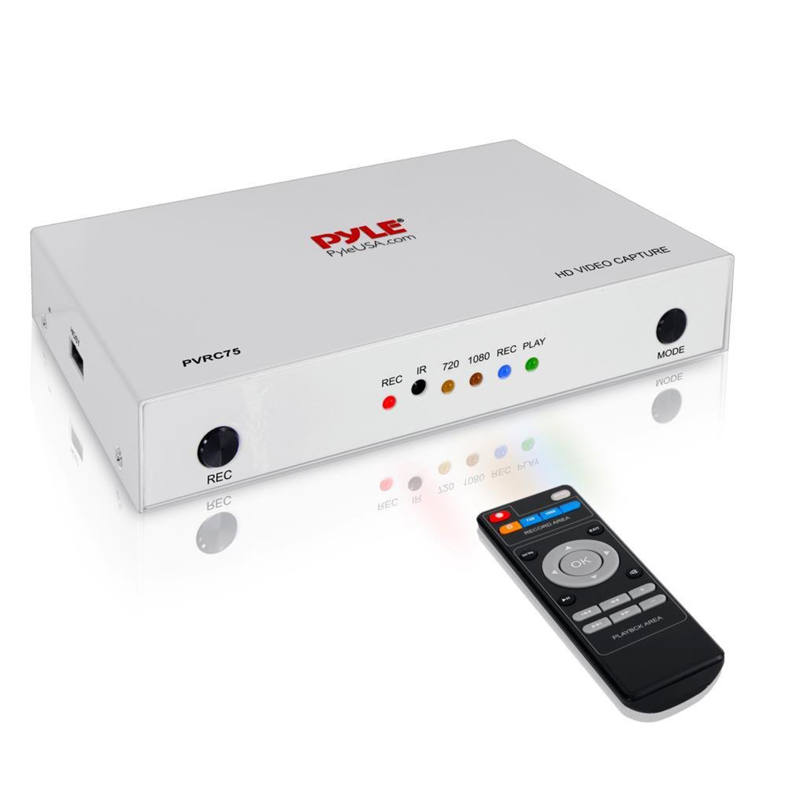 Pyle Video Game Capture Card - AV Recorder Converter, HDMI Support, Full HD 1080P Media File Creation System with Audio For USB, SD, PC, DVD, PS4, PS3, XBox One, XBox 360 and Wii