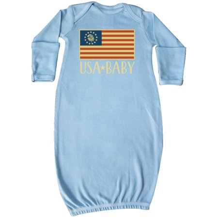 Image of USA Baby 4th of July Betsy Ross Flag Newborn Layette