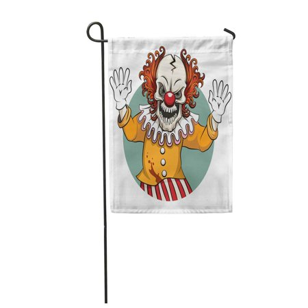 Angry Clown Face (SIDONKU Scary Clown Angry Face Horror and Crazy Maniac Scare Zombie Garden Flag Decorative Flag House Banner 12x18)