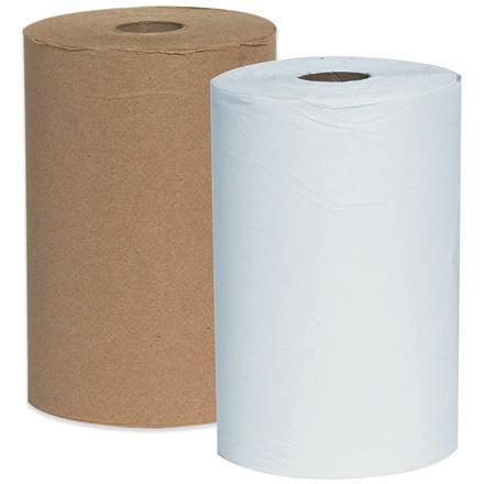 Kleenex White Hard Roll - TTWRTK White Janitorial Supplies 8 Inch x 425 Inch Kleenex Hard Wound Roll Towels Made In USA CASE OF 12
