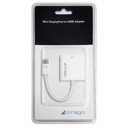 Cirago Mini DisplayPort to HDMI Adapter, White