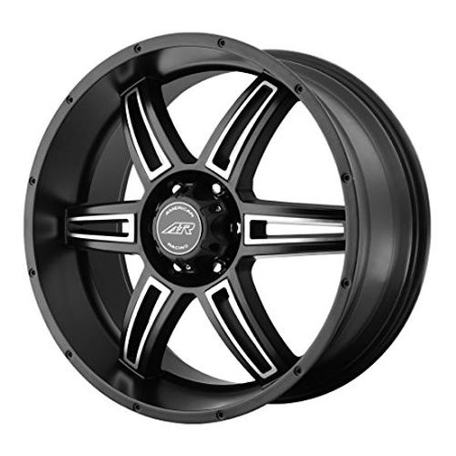 American Racing Custom Wheels Ar890 Satin Black Wheel With Machined Accents