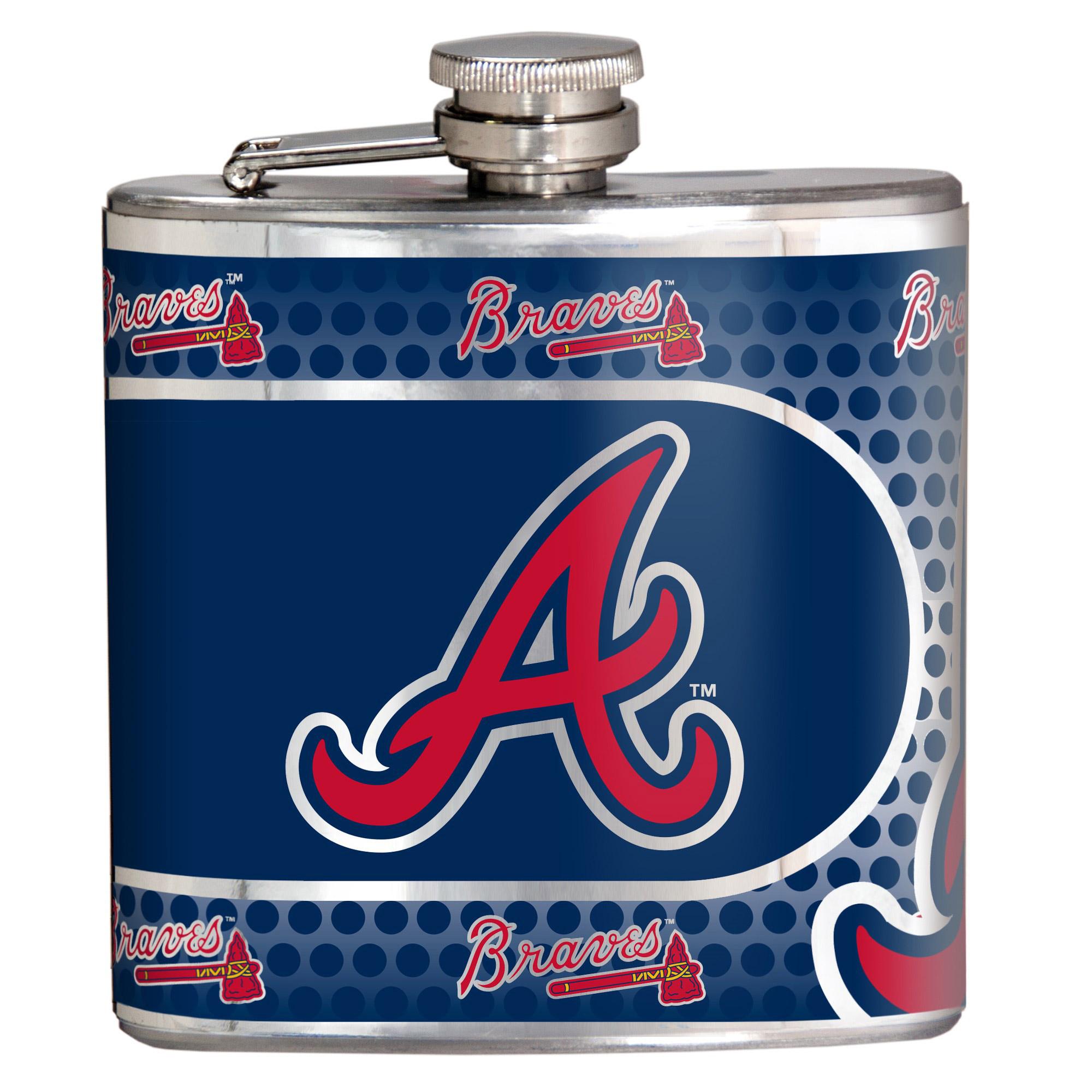 Atlanta Braves 6oz. Stainless Steel Hip Flask - Silver - No Size