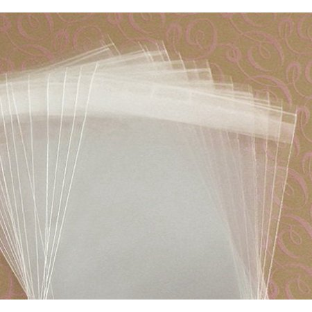 MyCraftSupplies 4 1/2 x 5 1/2 Inch Resealable Clear Cello Bags - Tape on Lip (Flap) Set of 100
