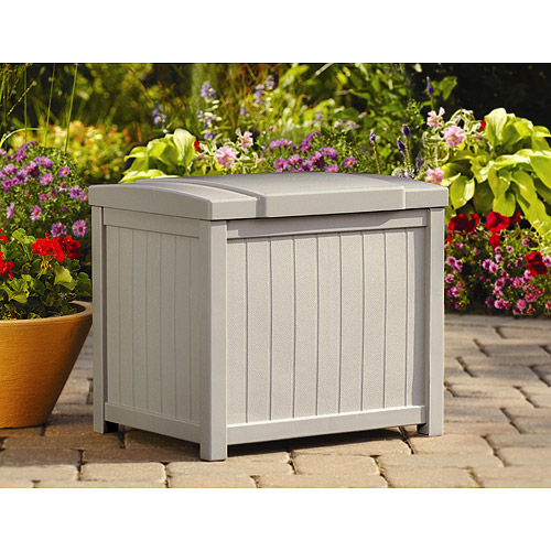 Suncast 22 Gallon Light Taupe Resin Small Storage Deck Box SS900