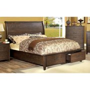 Furniture of America  Kown Country Espresso Solid Wood Platform Bed California King