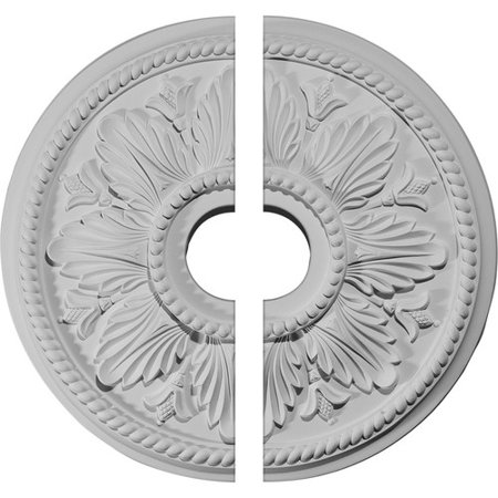 18 1/8u0022OD x 3 1/2u0022ID x 2 3/4u0022P Edinburgh Ceiling Medallion, Two Piece (Fits Canopies up to 5 1/8u0022)