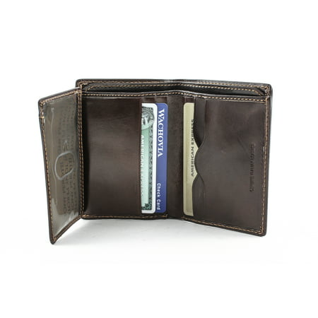 TONY PEROTTI MENS ITALIAN BULL LEATHER VERTICAL BIFOLD CREDIT CARD WALLET WITH ID