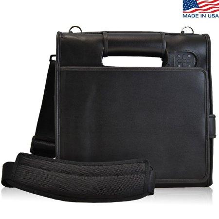 Turtleback Motion F5 and C5 Tablet Fitted Case & Shoulder Strap, Black Leather