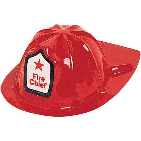 Plastic Fire Helmet ((4 Pack) Plastic Kids Fire)