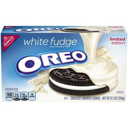Nabisco Oreo Pure White Fudge Covered Sandwich Cookies 8 5 Oz