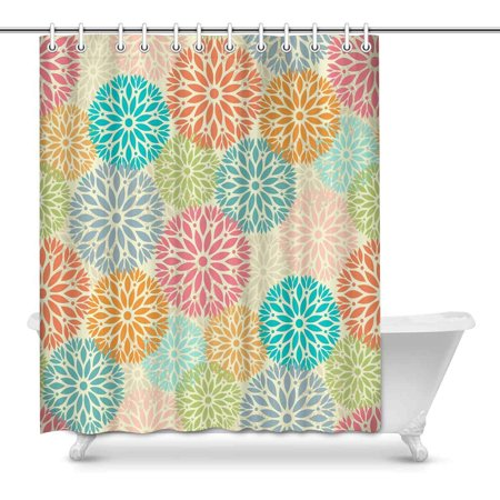 POP Tile with Mandalas Bathroom, Shower Curtain 60x72 inch - image 1 of 1