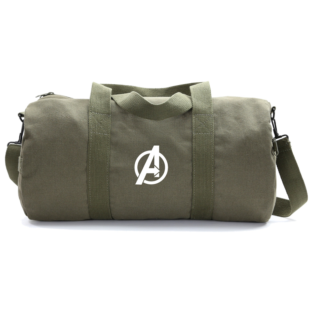 Marvel Superheroes The Avengers Logo Army Duffle Bag Travel Weekender Gym Duffel by Grab A Smile