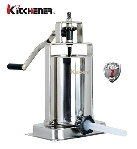 Kitchener Stainless Steel Vertical Sausage Stuffer/Filler/Maker-10 lbs