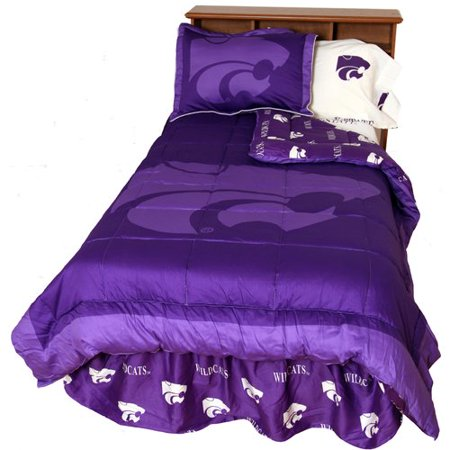 College Covers NCAA Kansas State Reversible Comforter Set