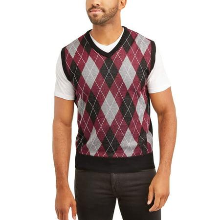 (Sahara Club Men's Argyle Sweater vest)