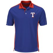 Mens Majestic Royal Texas Rangers Big   Tall To The 10th Power Cool Base Polo