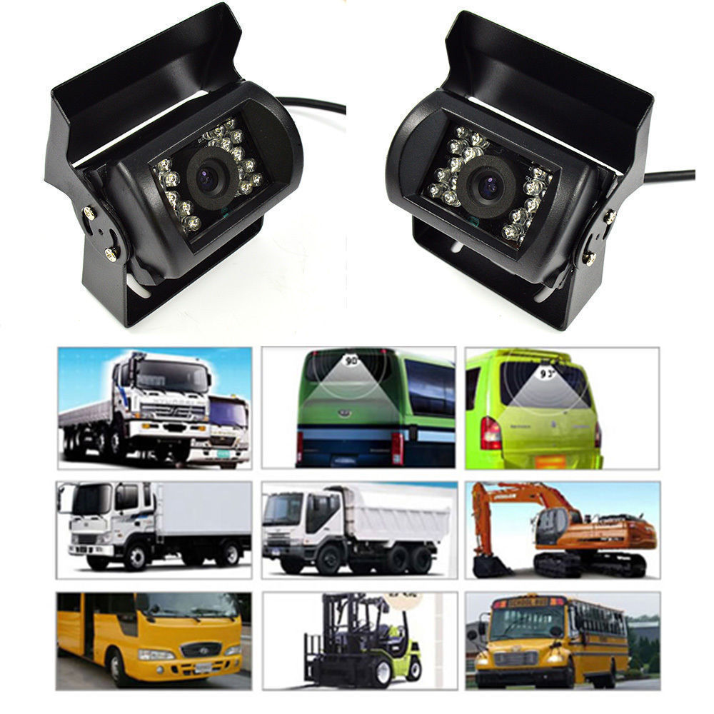18 IR LED Night Vision Backup Rear view Parking Camera for Car Bus Truck RV