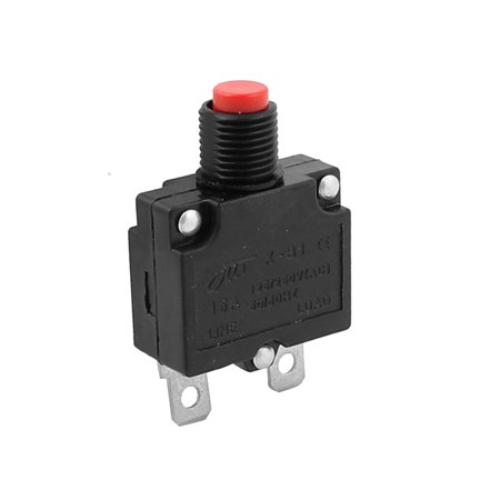 AC 125V 250V 15A 10mm Thread Circuit Breaker Overload Protector - image 3 of 3