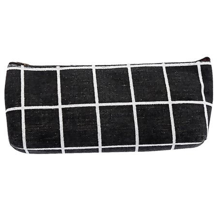 - Stripe Simple Large Canvas Pencil Case School Storage Bag Cosmetic Bag Pouch Girls Stationery Gift School Supplies
