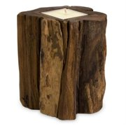 Home Decor Improvements 51367 Medium Teakwood Candle