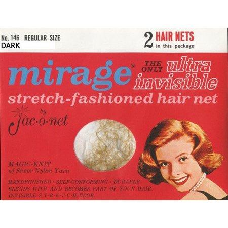 Jac-O-Net Mirage Ultra Invisible Dark Hair Net Dark (Invisible Net)