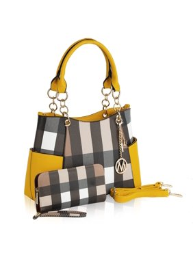 MKF Collection Lyrica Plaid Satchel Bag by Mia K.
