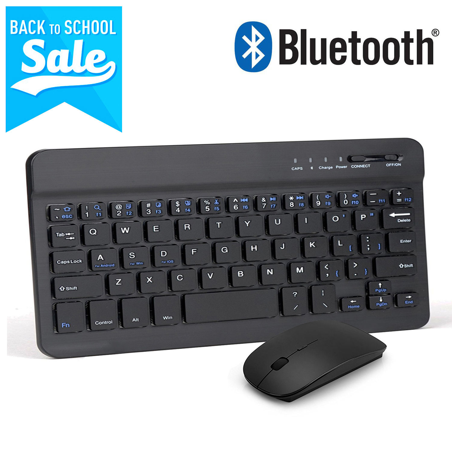EEEKit 2-in-1 Bundle Kit for 7 and 8 inch Tabelet, Wireless Bluetooth Keyboard & 2.4G Wireless Mouse