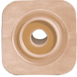 Sur-fit Natura Stomahesive Flexible Pre-cut Wafer 4 x 4 Stoma (Flexible Stoma Wafer)