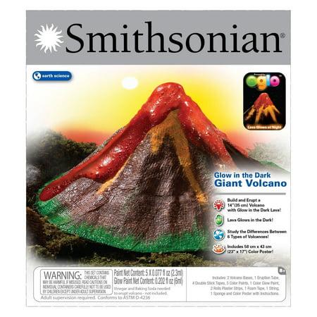 Volcanoes Experiment Kit - NSI Smithsonian Giant Glow In the Dark Volcano Kit