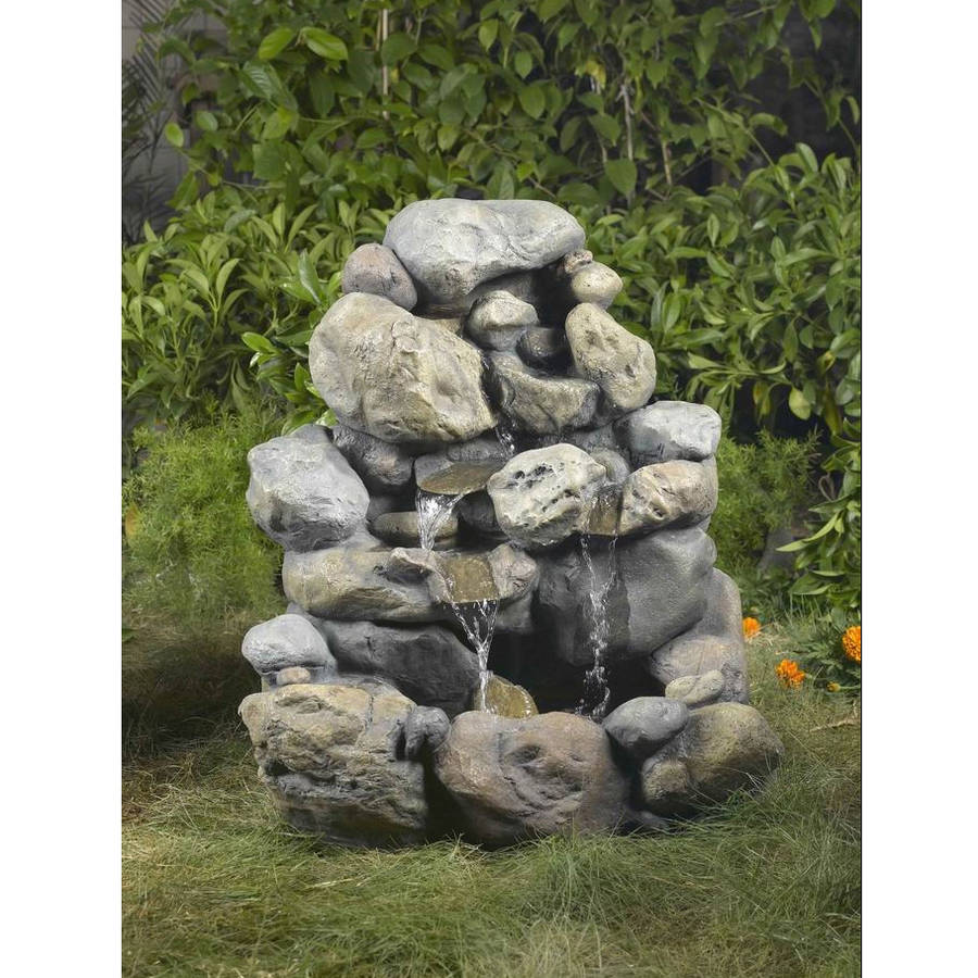 Better Homes and Gardens Outdoor Rock Fountain by