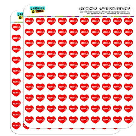 I Love Heart - Female Names - Nicole - 1/2