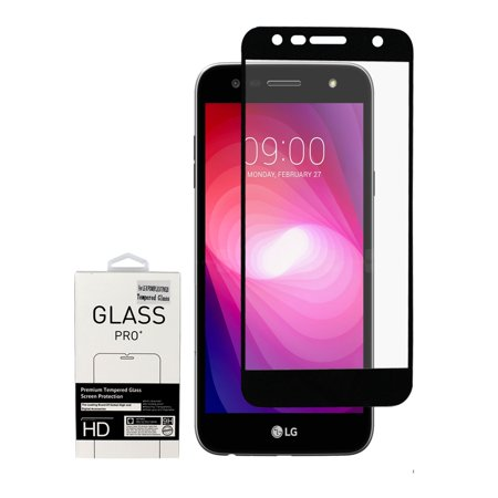 Insten Clear Tempered Glass Screen Protector Film Cover For LG Fiesta LTE/K10 Power/X Charge/X Power 2, Black - Walmart.com