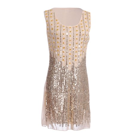Sequin Embellished Dress - Fashion Womens Glamazon Rhinestone and Sequin Embellished Shift Party Dress