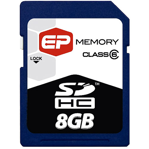 EP 8GB SDHC (Secure Digital High Capacity) Class 6 Cards
