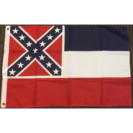 Mississippi Flag MS State Banner Pennant 2x3 foot Indoor Outdoor 24x36 inch (State 2x3 Banner Flag)