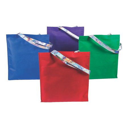 Colored Paper Bags (COLORED TOTE BAGS W/ IRIDESCENT HANDLES - Apparel Accessories - 12)