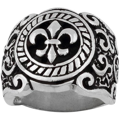hellfire jewelry sterling silver coat of arms fleur de lis