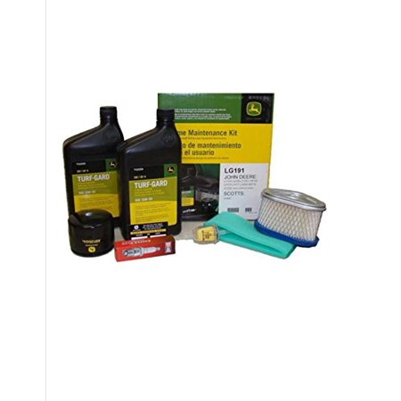 John Deere Maintenance Kit for LT133, LT150, LT155, LX173, LX255 SST15 GT225 Lawn Mower Filters, Oil (John Deere 345 Oil Filter Cross Reference)