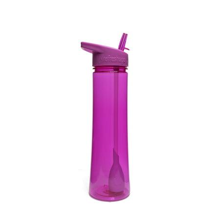 Refresh2go 22 Oz. Sleek Filtered Water Bottle, Purple (Plain Water Bottles)
