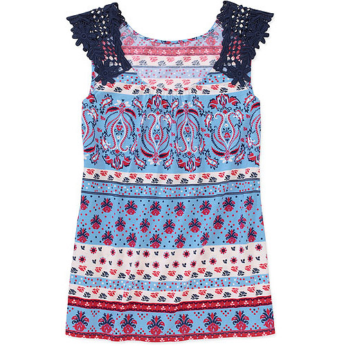 Faded Glory - Womens Lace Shoulder Smocked Cami