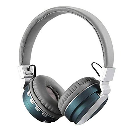 Portable Foldable Bluetooth Wireless Headphone Music Noise Reduction Headset Earphone FM Radio (Green) - image 3 of 5