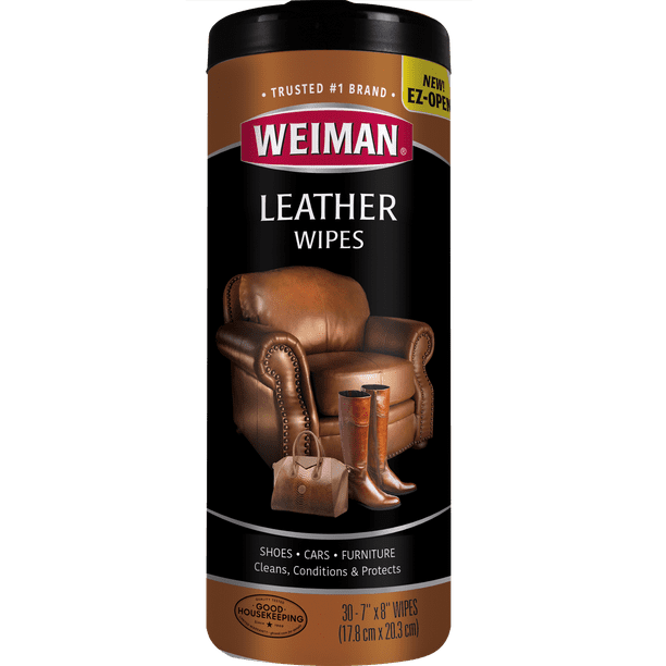 Weiman Leather Cleaner Wipes, 30 Count