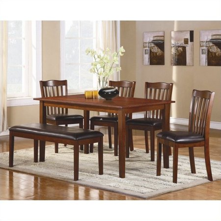 Homelegance Dining Table Set - Trent Home Schaffer 6 Piece Dinning Table Set in Espresso