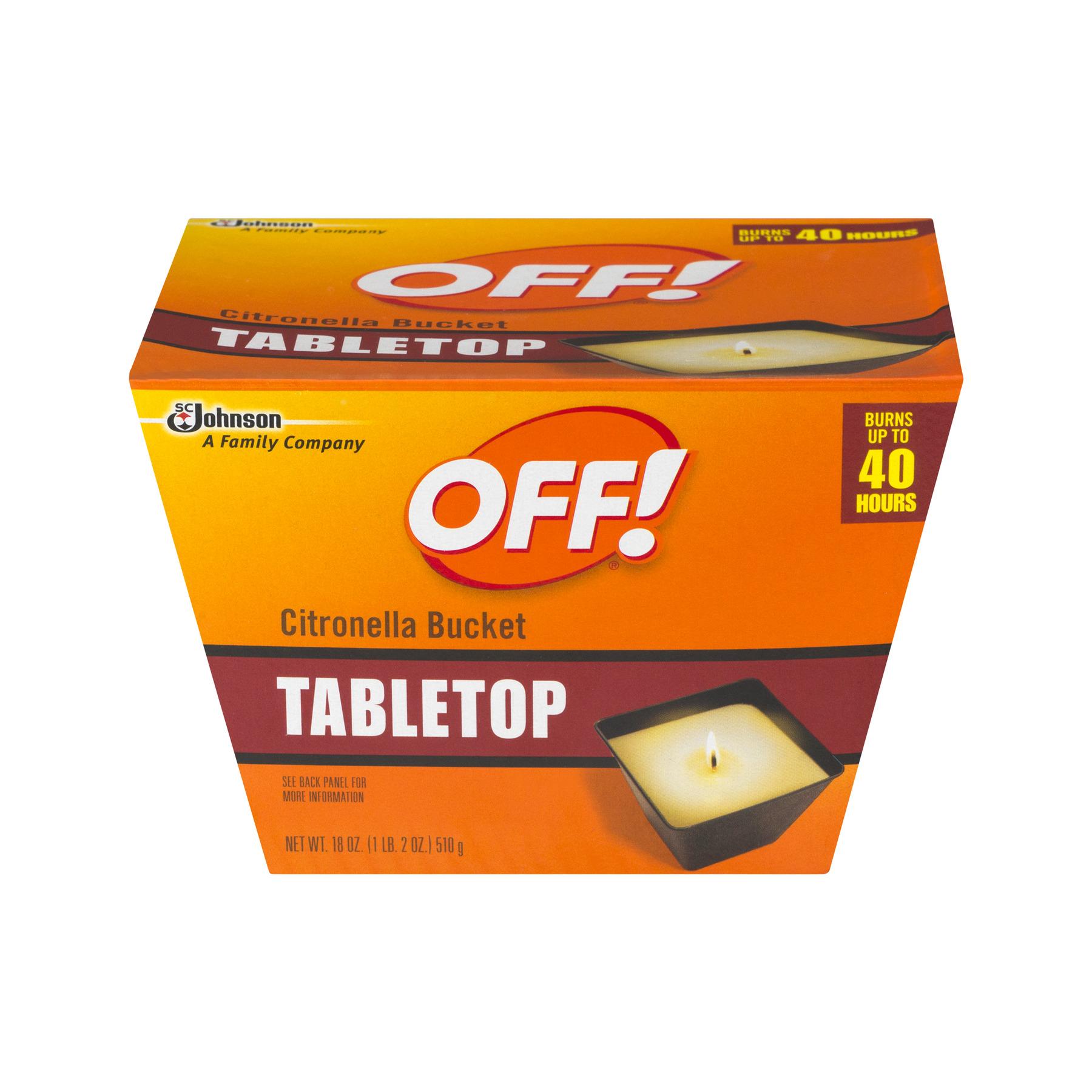 OFF! Tabletop Citronella Bucket, 18.0 OZ