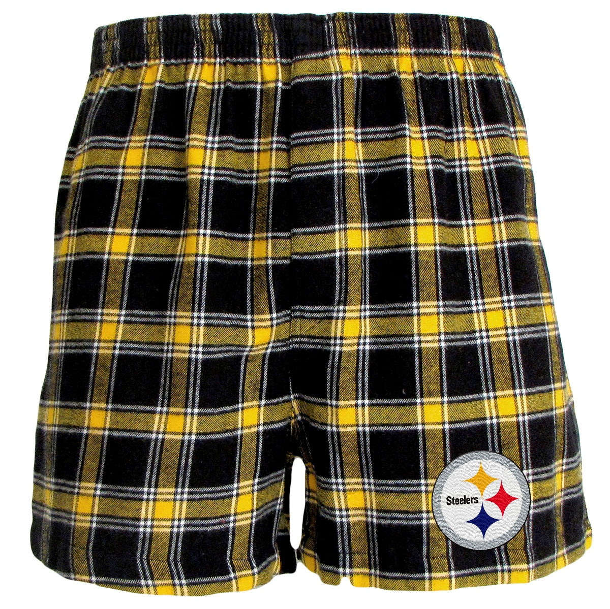 "Pittsburgh Steelers NFL ""Acclaim"" Men's Cotton Flannel Boxer"