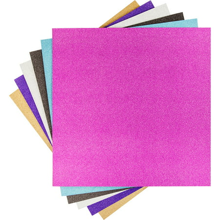 "Cricut Basic Vinyl, Glitter Sampler - 12""x12"" 6 sheets"