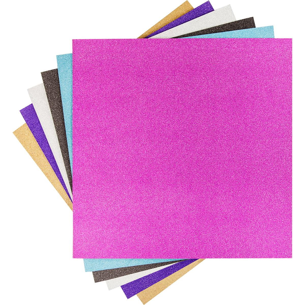 """Cricut 12""""X12"""" Vinyl Sampler 6/Pkg Glitter"""