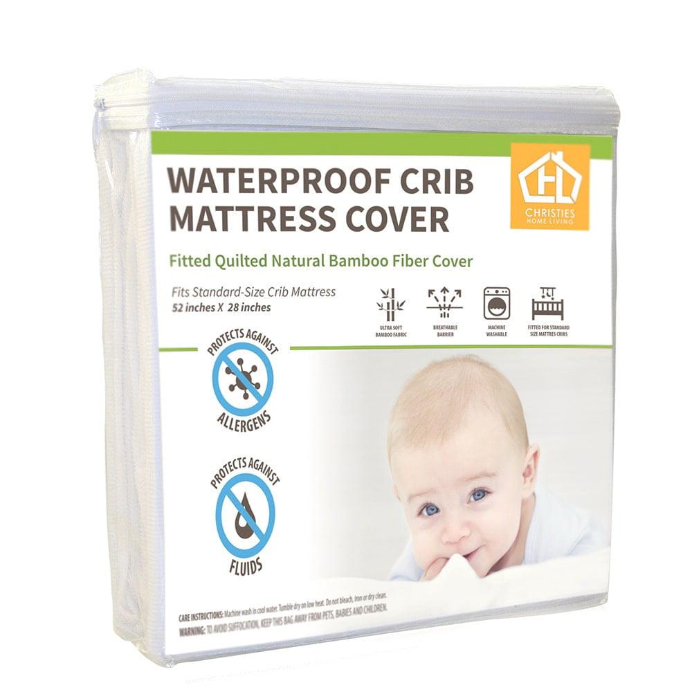 AC Pacific  Waterproof Bamboo Terry Crib Mattress Cover